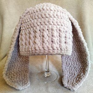 Crochet Bunny Hat - 12 to 24 months